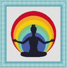YOGA RAINBOW  Counted cross stitch pattern by LudivinePointDeCroix