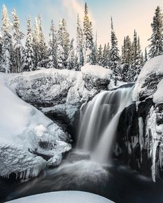 "A visit to #Yellowstone #NationalPark (@yellowstonenps) in Wyoming creates memories that last a lifetime. During a recent trip, Josh Packer's (@packtography) first time at Moose Falls didn't disappoint. ""Arriving just before sunset, the lighting was perfect on the snow-covered trees. I could have spent all day listening to this waterfall in this winter wonderland."" It's moments like these why Josh is taking the #YellowstonePledge to ensure that others will be able to enjoy this special…"