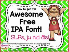How to Get this Awesome Free IPA Font for SLPs