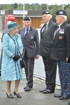 Queen Elizabeth II visits Forth Road Bridge on 04.07.2014 in Edinburgh, Scotland.