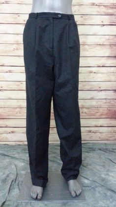 Talbots wool dress pants women's size 10 wear to work casual #Talbots #DressPants