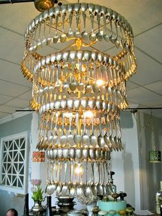 spoon chandelier diy - Google Search