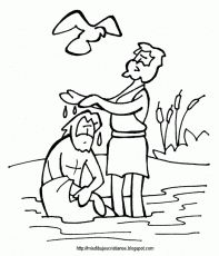Baptism Of Christ Coloring Page