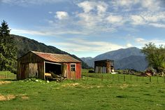 Old farm shed, Matakitaki Valley, Murchison, Tasman, New Zealand by brian nz, via Flickr