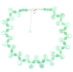 AVENTURINE DROPLET NECKLACE    Aventurine and sterling silver necklace.    Brings out green eyes and green garments. Matching items available.  ...  Colour: Green    Size: 40cm    £52.50     http://www.gemjewelleryshop.com/product-information/36/372/aventurine-droplet-necklace/See More