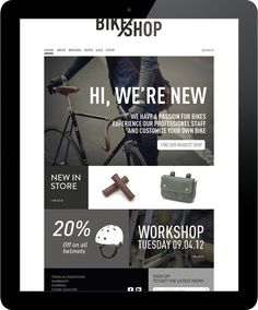 BIKE SHOP / branding & web by Line Otto, via Behance | 25 Web Designs - From up North
