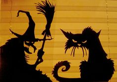 halloween silhouettes for windows - Google Search