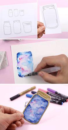 Creative Bookmarks, Paper Bookmarks, Watercolor Bookmarks, Watercolor Art, Bullet Journal Books, Bullet Journal Ideas Pages, Bullet Journal Inspiration, Cool Art Drawings, Art Drawings Sketches