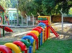 Resultado de imagen para parques hechos con cauchos