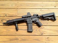 Custom sbr BCM upper on Noveske lower with Daniel Defense parts kit. Tactical Firearms, Tactical Gear, Weapons Guns, Guns And Ammo, Daniel Defense, Cz 75, Military Guns, Assault Rifle, Shotgun
