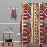 Found it at Wayfair - Valentina Ramos Woven Polyester Ethnic Stripes Shower Curtain