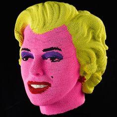 Sculptures made out of match heads.  David Mach, davidmach.com