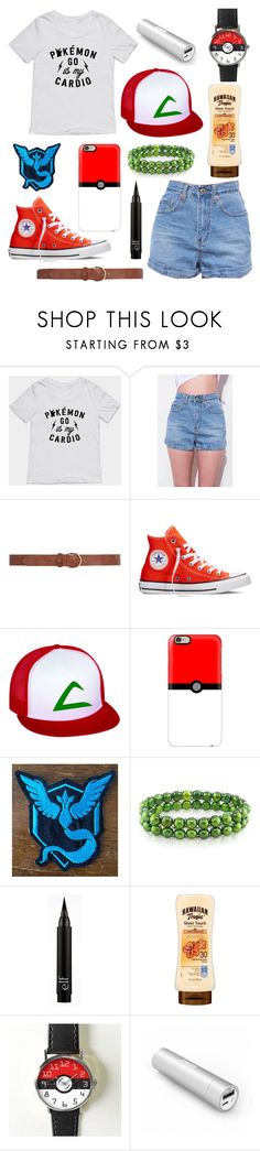 """Pokémon GO"" by bluedaisywhale ❤ liked on Polyvore featuring Dorothy Perkins, Converse, Casetify, Miadora and Panasonic"