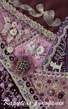 how to do crazy patchwork Silk Ribbon Embroidery, Beaded Embroidery, Embroidery Stitches, Embroidery Patterns, Hand Embroidery, Crazy Quilt Stitches, Crazy Quilt Blocks, Crazy Quilting, Crazy Patchwork