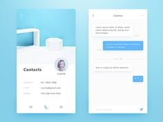 Rental Application Interface - Contacts designed by Connect with them on Dribbble; Mobile Ui Design, App Ui Design, Ios Ui, Filter Design, Music App, Web Design Inspiration, Daily Inspiration, Data Visualization, User Interface