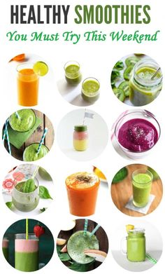 Healthy Smoothies Recipe 12 Healthy Smoothie Recipes with Leafy Greens or Vegetables – LeelaLicious Vegetable Smoothie Recipes, Healthy Green Smoothies, Fruit Smoothie Recipes, Healthy Breakfast Smoothies, Smoothie Diet, Healthy Snacks, Smoothies With Vegetables, Healthy Drinks, Healthy Recipes
