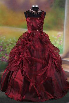 Gothic wedding dress.