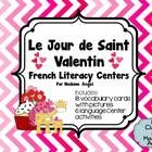 """It's time to celebrate """"le Jour de Saint Valentin""""!  This package contains illustrated word wall cards for Valentine's Day!  Activities include a w..."""