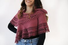 Scialle coprispalle maglia e uncinetto Scialle di lana image 0 Crochet Shawl, Crochet Doilies, Knit Crochet, Winter Outfits Women, Young Fashion, Best Friend Gifts, Shawls And Wraps, Mother Day Gifts, Valentine Day Gifts