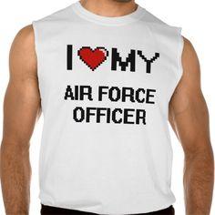 I love my Air Force Officer Sleeveless Shirt Tank Tops