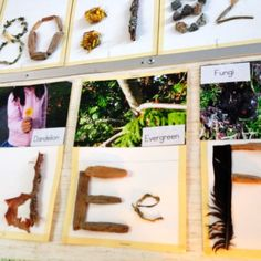 Making Learning Visible ~ How children learn. A natural alphabet {from Natural Pod}
