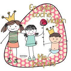 Stickers 'bebé a bordo' con estilo,originales y llenos de color. Personalizados con el nombre de tus niñ@s.