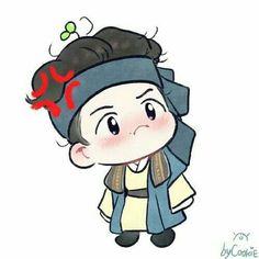Baekhyun Fanart, Chanbaek Fanart, Kpop Fanart, Chanyeol, Baekyeol, Chibi Exo, Live Action, Scarlet Heart Ryeo, Exo Cartoon