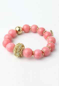 Dart Shell and Pink Beads Bracelet
