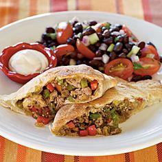 Ground Turkey Recipes | Tex-Mex Calzones | CookingLight.com