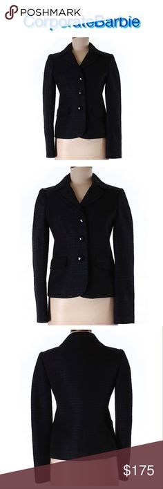 Moschino Cheap and Chic Navy plaid blazer from Moschino Cheap and Chic. Size 6. In like new condition. Originally $595. Moschino Jackets & Coats Blazers