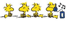 Woodstock and Friends Listening to Music Woodstock Music, Snoopy And Woodstock, Snoopy Love, Charlie Brown And Snoopy, Peanuts Cartoon, Peanuts Snoopy, Peanuts Characters, Cartoon Characters, Peanut Pictures