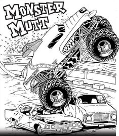 Monster Truck Coloring Pages Printable Elegant Free Printable Monster Jam Coloring Pages Monster Mutt Monster Truck Coloring Pages, Race Car Coloring Pages, Dolphin Coloring Pages, Birthday Coloring Pages, Easter Coloring Pages, Free Adult Coloring Pages, Disney Coloring Pages, Coloring Pages To Print, Free Printable Coloring Pages