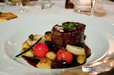 Chargrilled beef fillet, olive and sage gnocchi, confit tomatoes, red wine jus Beef Fillet Recipes, Restaurant, Bar, Gnocchi, Tomatoes, Red Wine, Steak, Dining, Photos