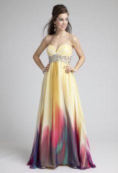 Bridesmaid Dresses - Metallic Chiffon Strapless Dress from Camille ...