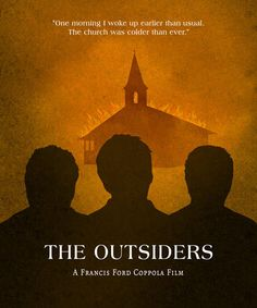 The Outsiders Minimalist Movie Poster by SuddenGravityPosters
