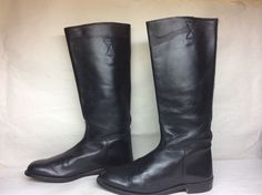 #12 MENS EL ESTRIBO RIDING LEATHER BLACK BOOTS SIZE 45 #ELESTRIBO #RIDING