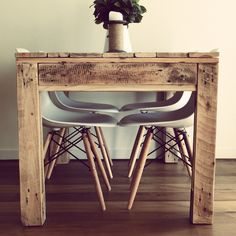 Dining Table made from reclaimed pallet timber