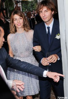 sofia coppola marries thomas mars in a lavender alaia dress.