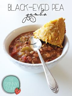 Black-Eyed Pea Gumbo - Only 216 calories for a full serving of this amazing gumbo! Perfect for that southern New Year tradition or for any occasion.