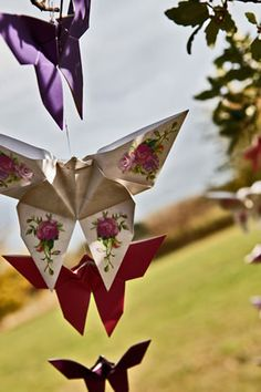 Make your own fab origami paper butterflies. Want to do this for my Daughters room.