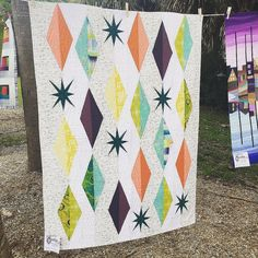 Gorgeous quilt by Christine Ravish at the Sarasota MQG airing of the quilts | by Allison/Savage Pink