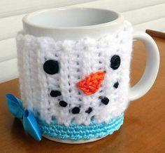 Snowman Coffee Cup Sleeve Mug Hug Cozy under 10 Niatta