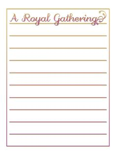 Journal Card - A Royal Gathering - Style 1 - gold and purple - lines - Photo: A little journal card to brighten up your holiday scrapbook! Disney Scrapbook, Scrapbook Cards, Scrapbooking, Purple Line, Purple Gold, Disney Stuff, Journal Pages, Print And Cut, Clip Art