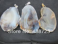 Amaning!High quality Natural Dendritic Agate Power Gemstone pendant 5pcs/lot $28.80