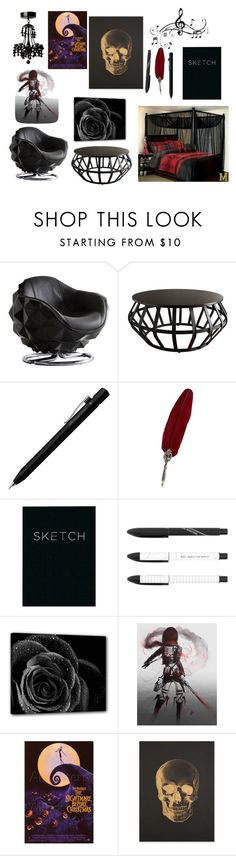 """Dream bedroom"" by ashtasia on Polyvore featuring Andrew Martin, Tribecca Home, Faber-Castell, Katie Leamon, Music Notes and bedroom"