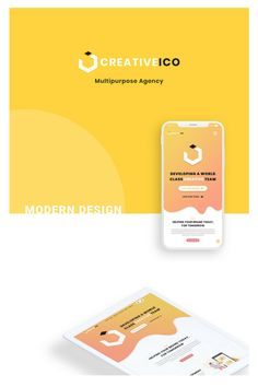 UI/UX Design For Multipurpose Creative Company. Ui Ux Design, Clean Design, Minimal Design, Modern Design, Custom Design, Creative Company, Business Flyer, Psd Templates, Photoshop