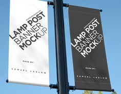 Wanting to show a client how their advert would look when displayed as two lamp post banners, I created a psd with a smart object that you can simply change.