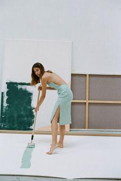 #Mint #Dress #Model #Minimal #Editorial #Spring #Style #Fashion #BiographyInspiration