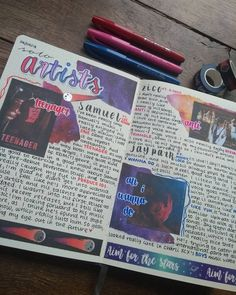 today I've got another collab ! This collab is with and we decided to do a spread on our favourite songs from a solo… Bullet Journal Ideas Pages, Bullet Journal Inspiration, Journal Pages, Journal Art, A Level Art Sketchbook, Sketchbook Layout, Photography Sketchbook, Photography Hacks, Photography Music