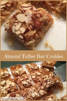Almond Toffee Bar Cookies: ingredients, directions, and special baking tips from The Elf for making Almond Toffee Bar Cookies. Cake Mix Cookie Recipes, Chocolate Cookie Recipes, Cake Mix Cookies, Chocolate Chip Cookies, Easy No Bake Cookies, Cookies For Kids, Yummy Cookies, Toffee Bars, Toffee Cookies